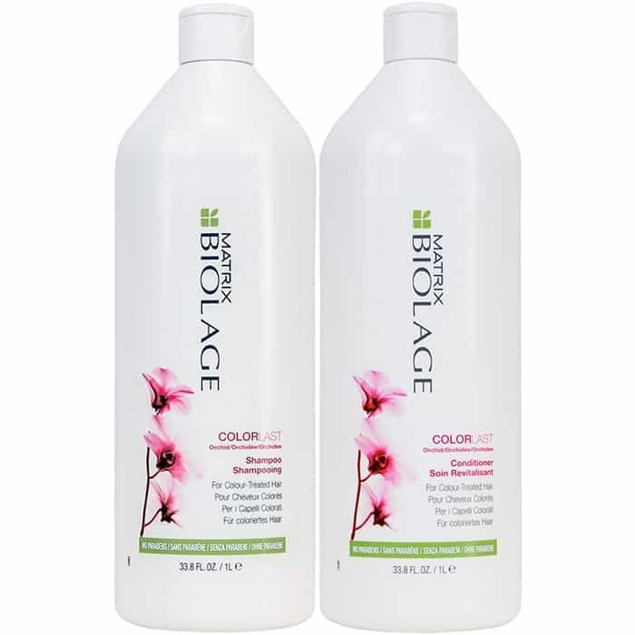Matrix Biolage shampoo and conditioner for colored treated hair