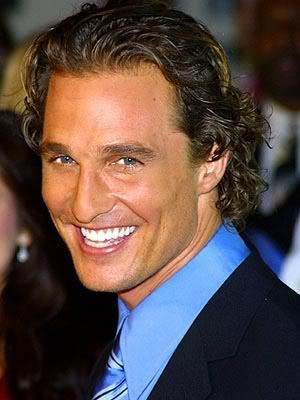 Matthew McConaughey curly hairstyle