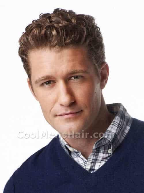 Photo of Matthew Morrison hairstyle.