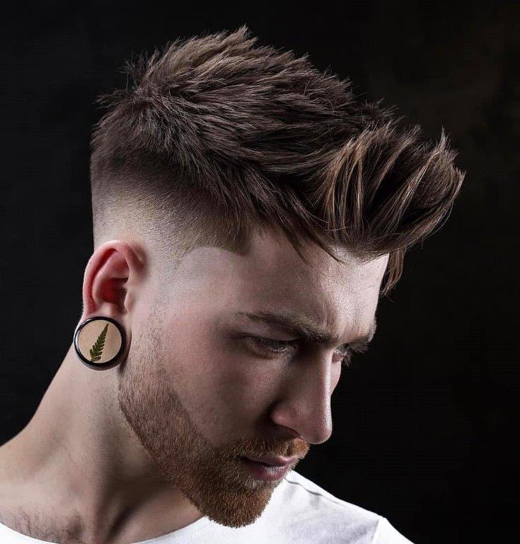 messy medium hairstyles for men with thick hair