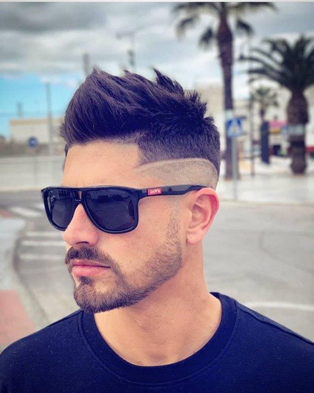 Medium hairstyles for men with spiky thick hair