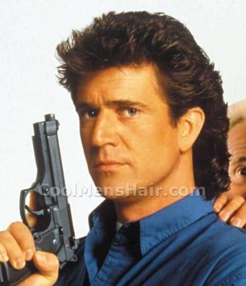 Photo of Mel Gibson hair in Lethal Weapon 3.