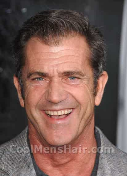 Mel Gibson short hairstyle picture for older men.