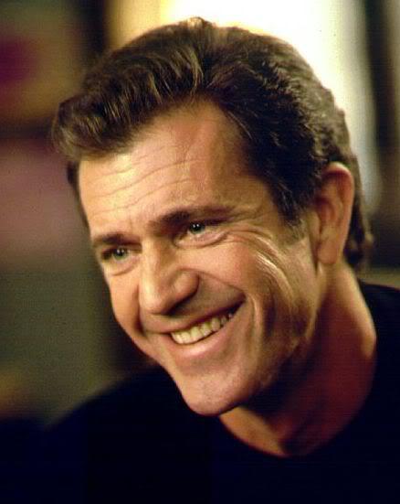 Mel Gibson short hair.