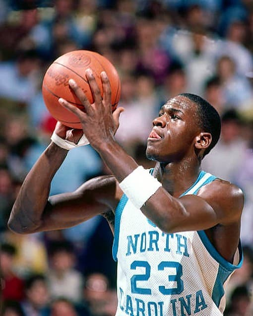 Michael Jordan with hair