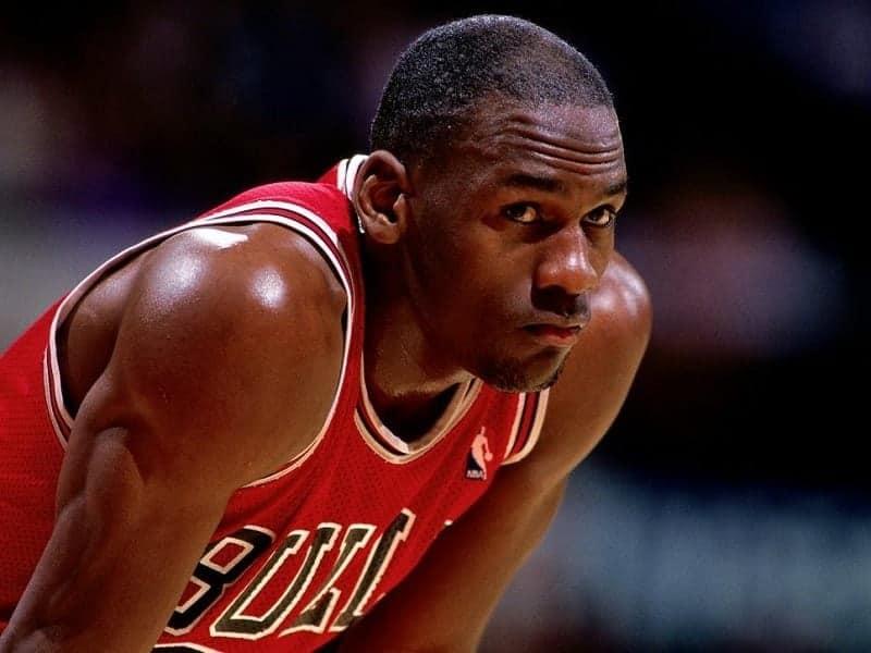 Michael Jordan with hair
