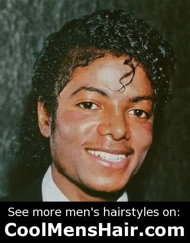 Photo of Michael Jackson jheri curl hairstyle for men.