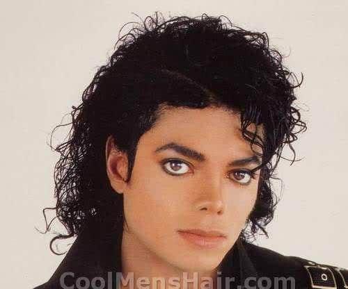Michael Jackson jheri curl hairstyle.