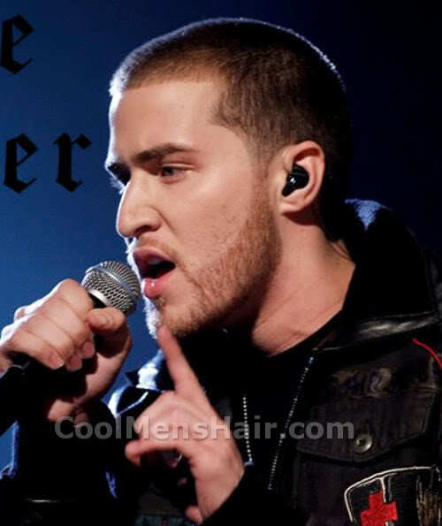 Image of Mike Posner buzz cut with beard.
