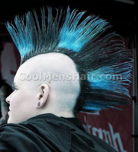 Mohawk haircut.