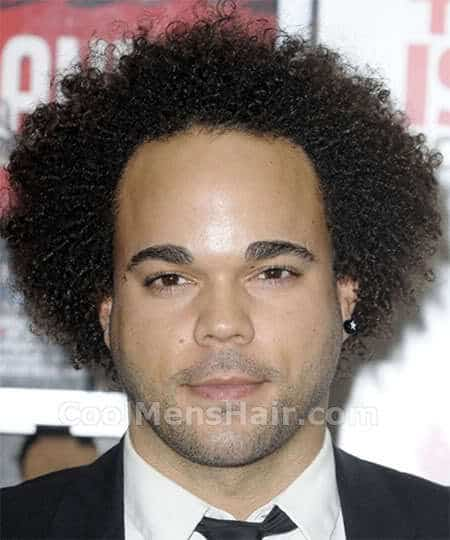Photo, picture, image of Nate James afro hairstyle.