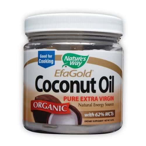 Photo of Natures Way Coconut Oil for dry hair care.