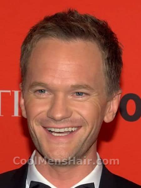 Photo of Neil Patrick Harris short hairstyle.