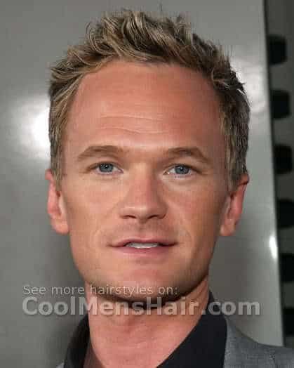 Neil Patrick Harris spiky hair style picture.