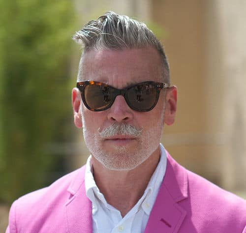 Photo of Nick Wooster hairstyle.