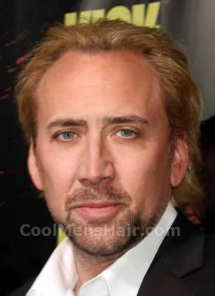 Photo of Nicolas Cage hairstyle.