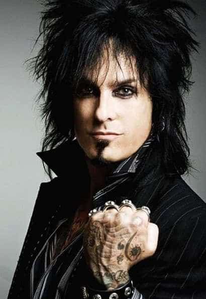 80s mens big hairstyle from Nikki Sixx