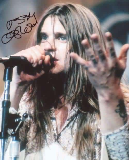 Picture of Ozzy Osbourne long hairstyle.