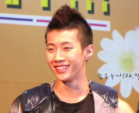 Picture of Jay Park mohawk hairstyle.