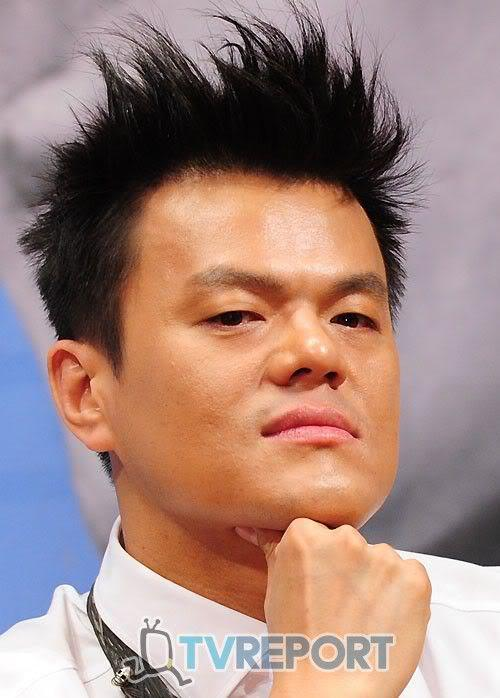 Image of Park Jin Young hairstyle.