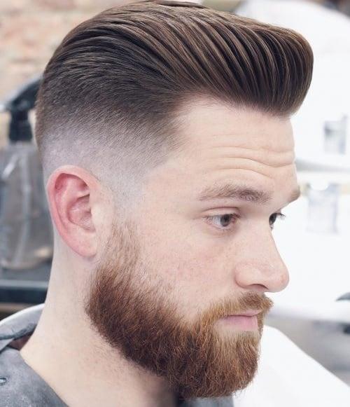 pompadour gentleman haircut