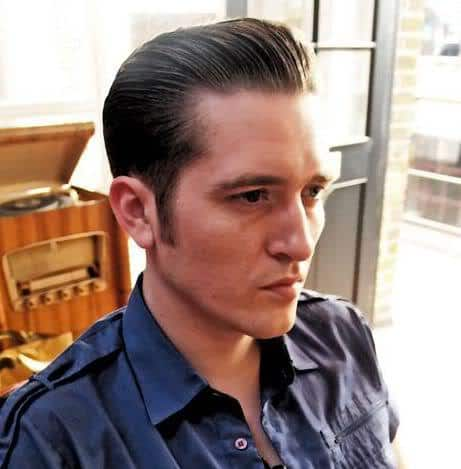 Picture of pompadour hair.