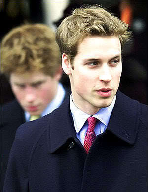 Pic of Prince William messy hair.