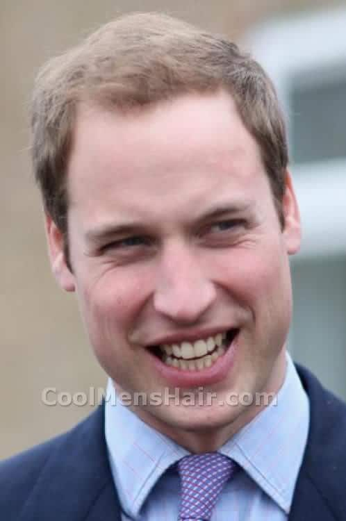 Image of Prince William short hairstyle.