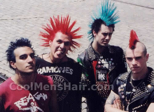 Picture of Punk men with punk hairstyles.