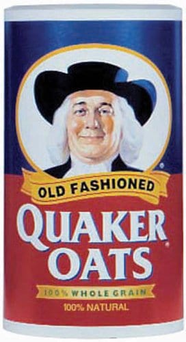 Image of Quaker Oats to wash hair.