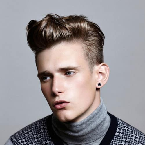 quiff haircut with twist