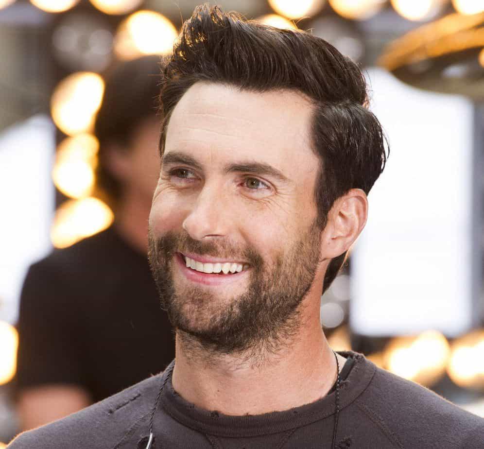 Adam Levine's quiff hairstyle