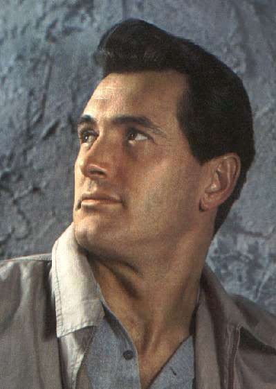 Picture of Rock Hudson quiff hairstyle.