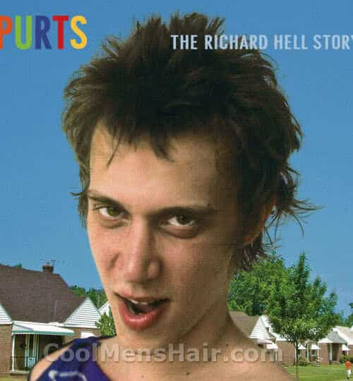 Richard Hell spikey hair photo.