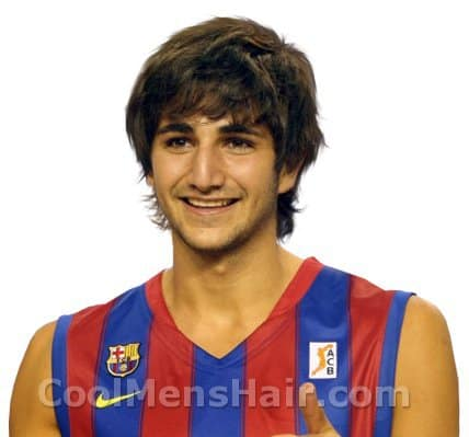 Photo of Ricky Rubio shag hairstyle.