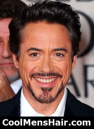 Photo of Robert Downey Jr. hairstyle.