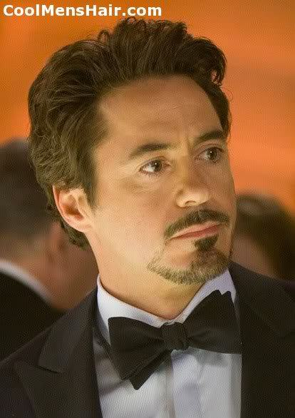 Picture of Robert Downey Jr. thick hairstyle.