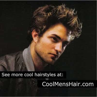 Robert Pattinson (Edward Cullen) cool haircut