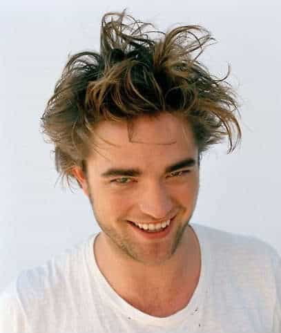 Pattinson messy haircut