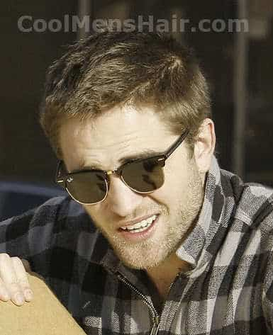 Robert Pattinson buzz hair.