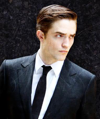 Picture of Robert Pattinson hair.