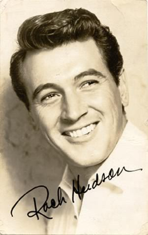 Photo of Rock Hudson pompadour haircut.