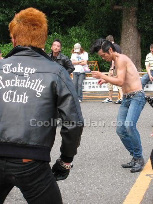 Picture of Rockabilly dancers.