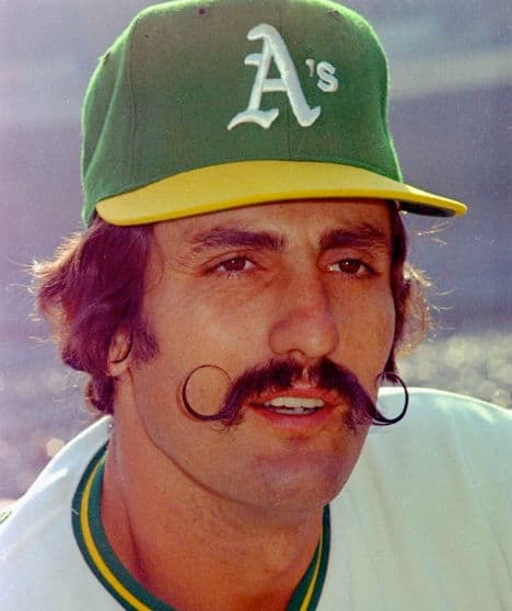 Photo of Rollie Fingers with the Handlebar moustache.