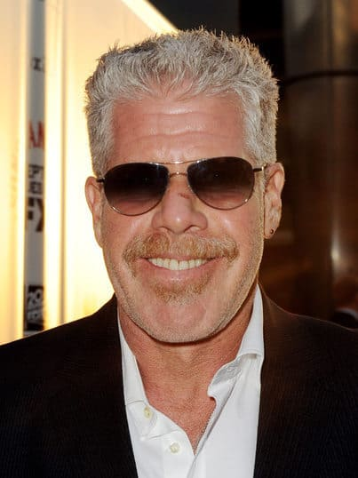 Photo of Ron Perlman gray hair.