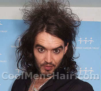 Picture of Russell Brand hairstyle with spikes.
