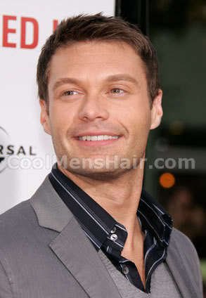 Photo of Ryan Seacrest short hairstyle.