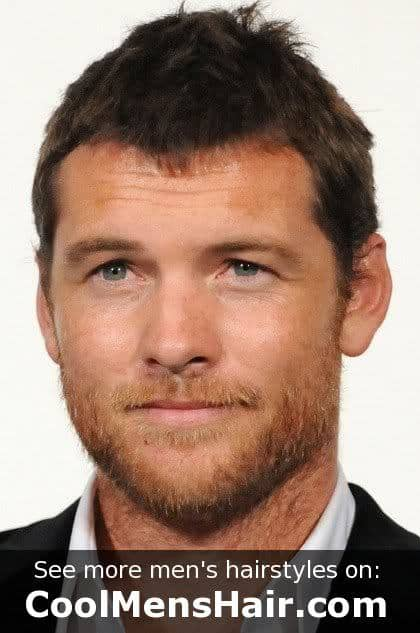 Photo of Sam Worthington shor formal hairstyle.