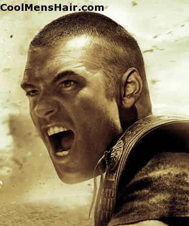 Image of Sam Worthington buzz cut in Clash of the Titans.