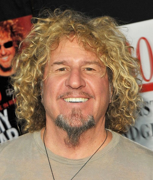 Sammy Hagar's Long Blond Curly Hair Style